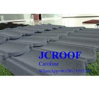China Wooden Type Stone Coated Metal Roof Tile , Lightweight Metal Roof Tiles on sale