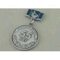 Quality Zinc Alloy 3D Antique Silver Custom Awards Medals With Imitation Hard Enamel for sale