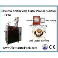 China Australia drip bag coffee packing machine with outer envelope on sale