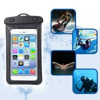 Quality Amphibious Floatable Waterproof Phone Pouch Bag With Lanyard and Armband Strap For Swimming / Running for sale