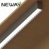 China 24W60W UGR Fluorescent Surface Mount Light Fixture Direct Architectural Surface Linear Fluorescent Ceiling Light Fixture on sale