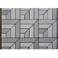 China Square Guangxi White Marble Mosaic Tile Backsplash / Stone Mosaic Wall Tiles Polished for sale