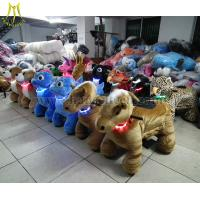 Quality Hansel coin operated walking animal toy cars for Outdoor Amusement Rides for sale