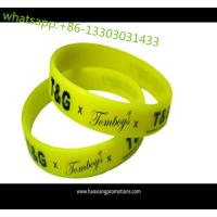 Quality Artificial Style and Business Gift Use silicone bracelets as customized no MOQ for sale