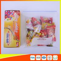 Quality Resealable Clear Ziplock Snack Bags For Food Packaging Eco Friendly for sale
