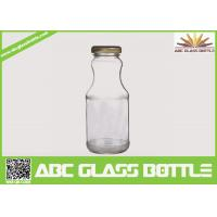 Quality Hot sale 6oz glass bottle for juice with twist off metal cap for sale