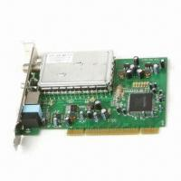 Quality ATSC and NTSC TV Tuner Card with PCI 2.2 Slot Interface, Receives Analog and Digital TV Signals for sale