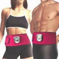 Quality Slimming Neoprene Belts with LCD and Four Silicone Conducting Patches for sale