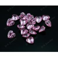 Syntehtic pink colored cubic zirconia Gems Stone on sale for silver jewelry for sale