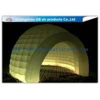 China Multi Color Lighting Round Inflatable Air Tent Dome With Oxfor Cloth Material for sale