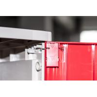 Quality Corrosion Proof ABS Plastic Lockers Red Door 5 Tier Lockers With Clover Keyless Lock for sale
