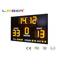 Quality Athletic Digital Baseball Scoreboard , Baseball Electronic Scoreboard Outdoor Type for sale