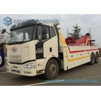 China 6 X 4 FAW Rotator Wrecker Road Rescue Truck 50 Ton 180kw / 245hp on sale