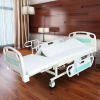 Quality Medical Electric Full Size Adjustable Bed For Elderly White Color for sale