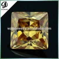Square Princess Synthetic European Machine Cut Cubic Zirconia Machine Cut, Synthetic Stones Cubic Zirconia Price for sale