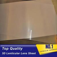 Quality Sell Plastic lens100 lpi 3d lenticular 0.35mm PET film matericals for 3d flip zoom morphing animation effects for sale