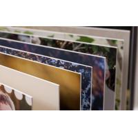 Quality Customized 11x14 Vertical Right Inside Corner Photo Album Pages for sale