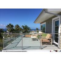 China Tempered Glass Deck Railing Systems Outdoor Modern Glass Railing Design on sale