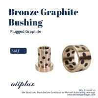 Quality Customized Self Lubricating Bronze Bushing With Graphite Sleeve Flange & Thrust for sale