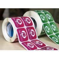Quality Durable Glossy Sticker Labels / Warning Label Rolled With Custom Logo for sale