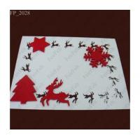 Quality Christmas felt placemats and coaster sets for sale