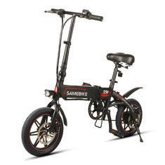 Quality WWW.YOLCART.COM Samebike XW14 250W Smart Bicycle Folding 36V 8AH Moped Electric Bike E-bike EU Plug For Cycling Camping for sale