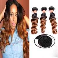Quality Soft And Silky Body Wave Human Hair Ombre Extensions , Black And Blonde Dip Dye Hair Extensions for sale