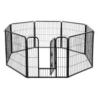 China Removable PP Tray Foldable Metal Dog Crate Rust Proof  Iron Wire Material on sale