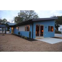 Quality Wooden Plastic Decorate Modular Homes , Prefabricated Bungalow Homes for sale