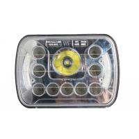 Quality 7 inch 45 watt square front car light with Cree chips and angle eye high/low beams for sale