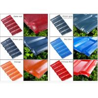 Quality Color Coated Corrugated Pvc Synthetic Resin Roof Tile Spanish Style 1050mm Width for sale
