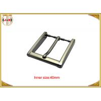 Quality 40mm Square Zinc Alloy Custom Metal Belt Buckles With CNC Engraved Logo for sale