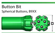 Drilling Tools Button Drill Bit Convex Face 76mm 64mm T38 Button Bit