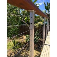 Quality Cable infill Wire cable railing with wooden top handrail for balcony/ staircase for sale