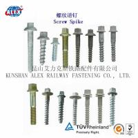 Quality Timber Screw Spike, Railway Fastener Coach Spike for sale