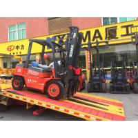 China Diesel Power 4 Wheel Forklift Truck , High Capacity Forklift 3000mm Lifting Height on sale
