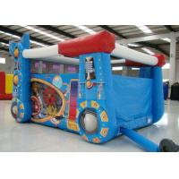 Quality Robot Design Bounce House With Slide , Commercial Castle Bounce House 5.7 * 4.7 * 3.7 for sale