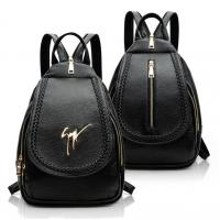 Quality Daily Small Fashion Ladies Backpack Black Korean Style PU Leather Vintage for sale