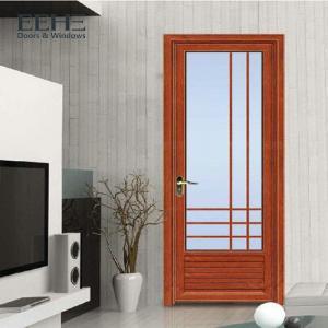 Quality PVDF Aluminium Frame Glass Sliding Door , Commercial Aluminum Double Doors 1.2mm for sale