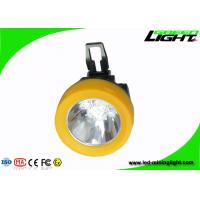 China Anti Flame Miners Cap Lamps Cordless 3.8Ah Battery 13 - 15hours Working Time CE support USB charging on sale