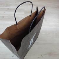 Quality Cheap Price Twisted Handled Paper Shopping Bag Custom Logo Print for sale