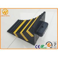 China Recycled Rubber Truck Vehicle Wheel Stops Chock for Parking Lock / Hotel / Garage on sale