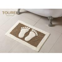 Quality Bulge Big Feet  Icon Many Hotel Bath Mats Homor Design With Polyester Coral for sale