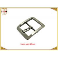 Quality Silver Plated Zinc Alloy Pin Metal Belt Buckle For Men / coat Belt Buckle Replacement for sale