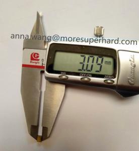 Quality industry use single crystal synthetic diamond / HPHT Monocrystal diamond 4x3x1.7 for sale