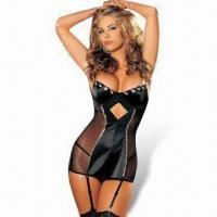 Quality Sexy Lingerie Bodysuit, Includes Dress with Garter and G-string for sale