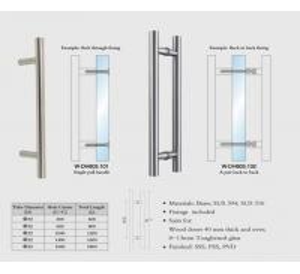 Buy cheap wooden door handles Stainless Steel entry door handles set Dia. 32mm tub H from wholesalers