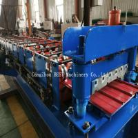 Quality Trapezoidal Metal Sheet Roof Roll Forming Machine PPGI/GI Material With PLC Control for sale