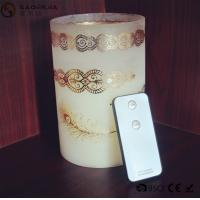 Quality Personalized Party / Event Paraffin Wax Candles In Prinnted Glass Jar for sale