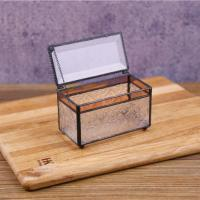 China Rectangular Glass Jewellery Boxes Wedding Flower Boxes Jewellery Storage Boxes for sale